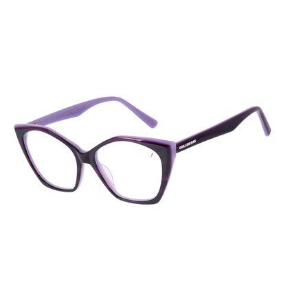 Armação Para Óculos de Grau Feminino Chilli Beans Cat Roxo LV.AC.0706-1414