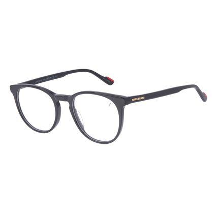 Armação Para Óculos de Grau Unissex Chilli Beans Redondo Acetato Preto LV.AC.0709-0101