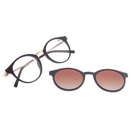 Armação Para Óculos de Grau Feminino Chilli Beans Multi Polarizado Degradê Marrom LV.MU.0442-5730