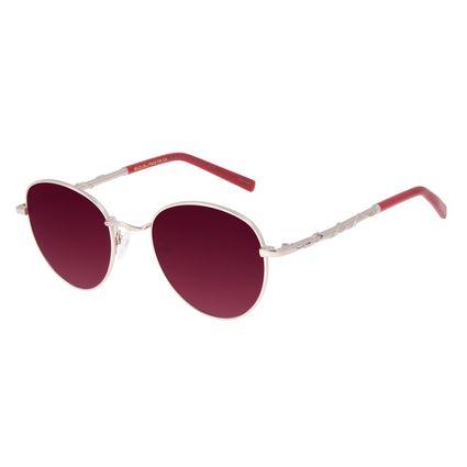 Óculos de Sol Unissex Tokyo Dragão Redondo Prata OC.MT.2914-1707