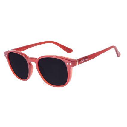 Óculos de Sol Unissex Tokyo Redondo Vermelho OC.CL.3077-0116