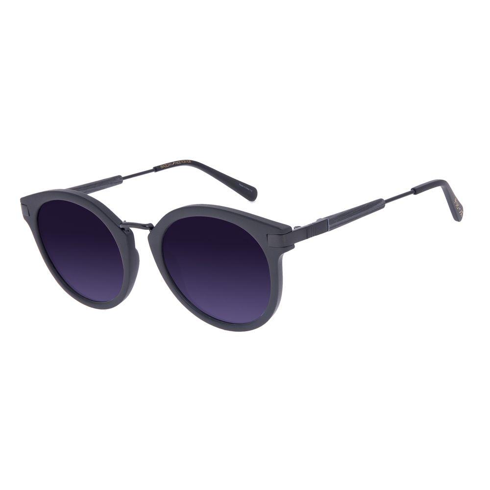 Óculos de Sol Feminino Tokyo Bambu Redondo Fosco OC.CL.3078-2031