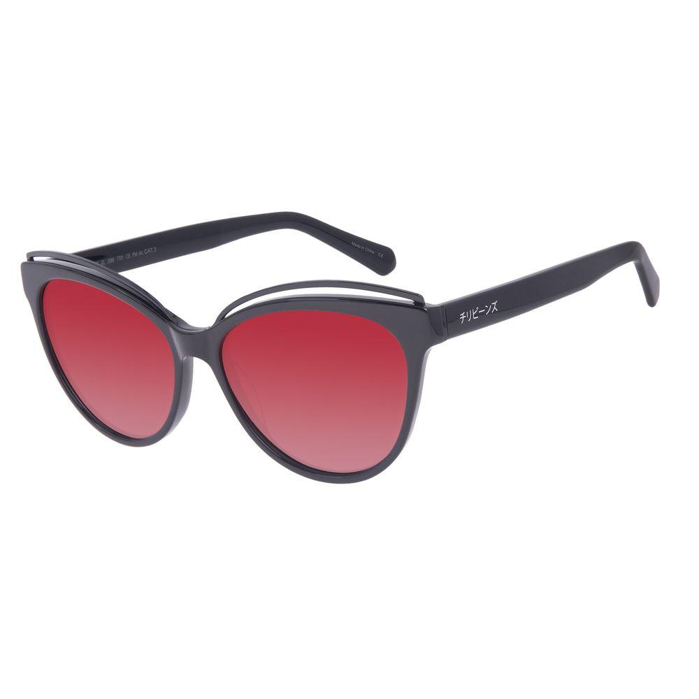 Óculos de Sol Feminino Tokyo Leque Cat Polarizado Preto OC.CL.3086-1701