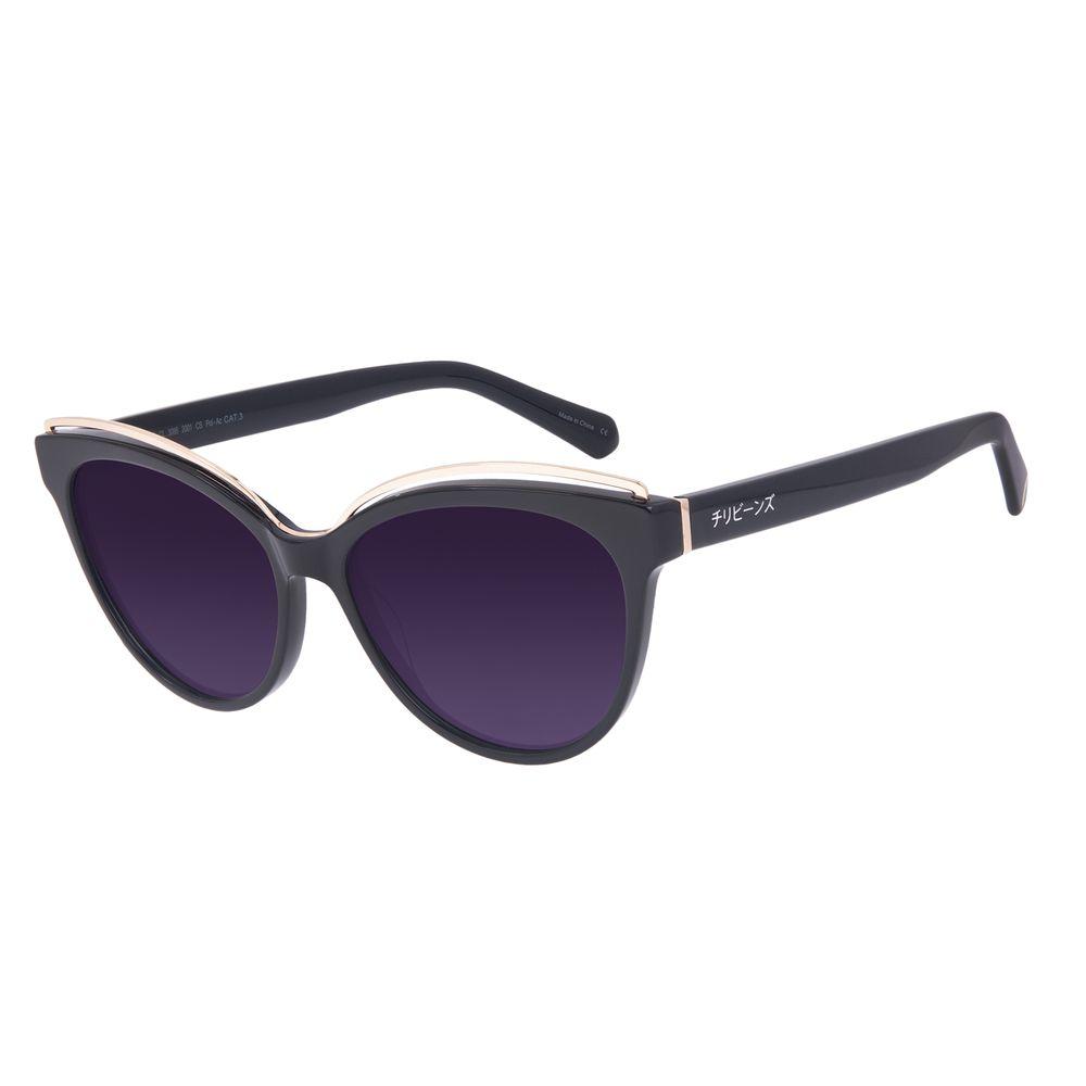 Óculos de Sol Feminino Tokyo Leque Cat Polarizado Degradê OC.CL.3086-2001