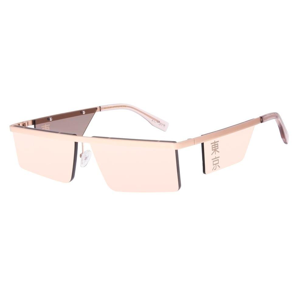 Óculos de Sol Unissex Tokyo Quadrado Flap Rosé OC.MT.2903-0495