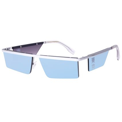 Óculos de Sol Unissex Tokyo Quadrado Flap Prata OC.MT.2903-0407