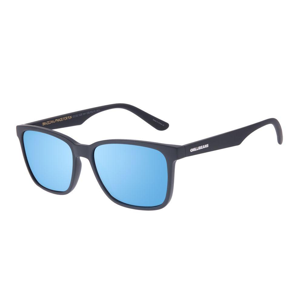 Óculos de Sol Masculino Chilli Beans New Sport Quadrado Espelhado Polarizado OC.ES.1228-3201