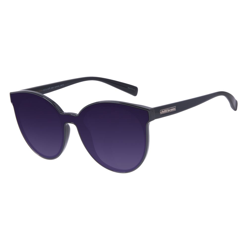 Óculos de Sol Feminino Chilli Beans Trend Redondo Preto OC.CL.3070-2001