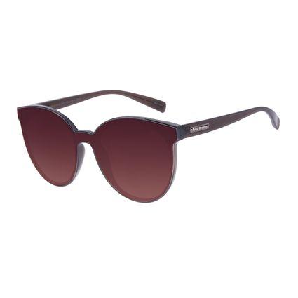 Óculos de Sol Feminino Chilli Beans Trend Redondo Degradê Marrom OC.CL.3070-5702