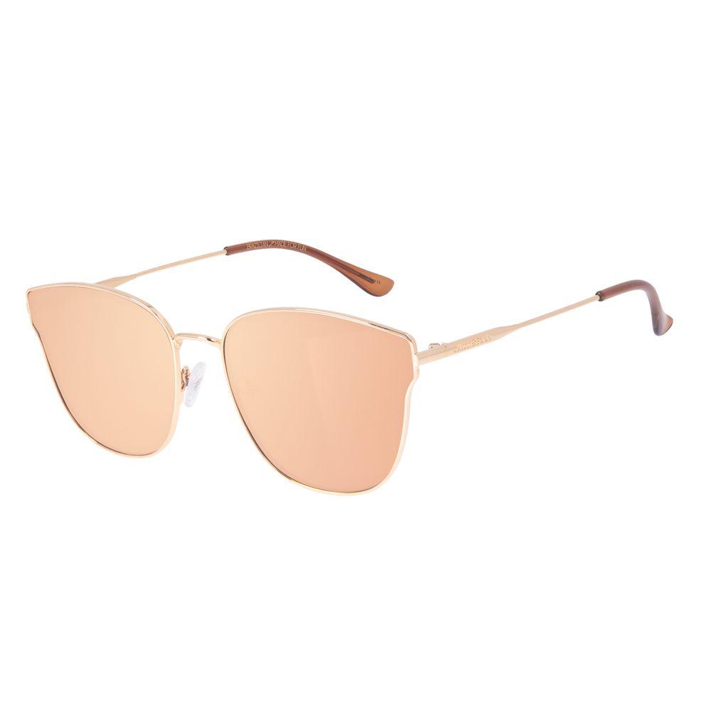 Óculos de Sol Feminino Chilli Beans Banhado a Ouro Gatinho Dourado OC.MT.2918-5721