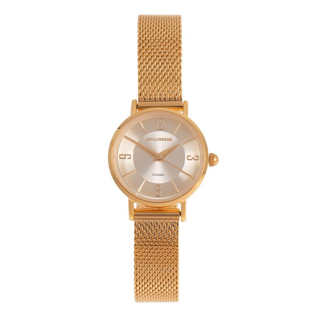 Relógio Analógico Feminino Chilli Beans Metal Brilho Dourado RE.MT.1137-2121