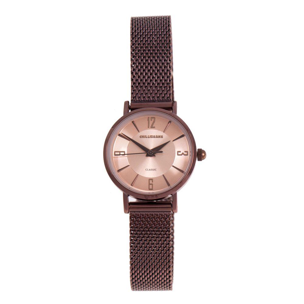 Relógio Analógico Feminino Chilli Beans Metal Brilho Marrom RE.MT.1137-9502