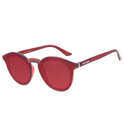 Óculos de Sol Unissex Chilli Beans Redondo Vermelho OC.CL.3235-1616