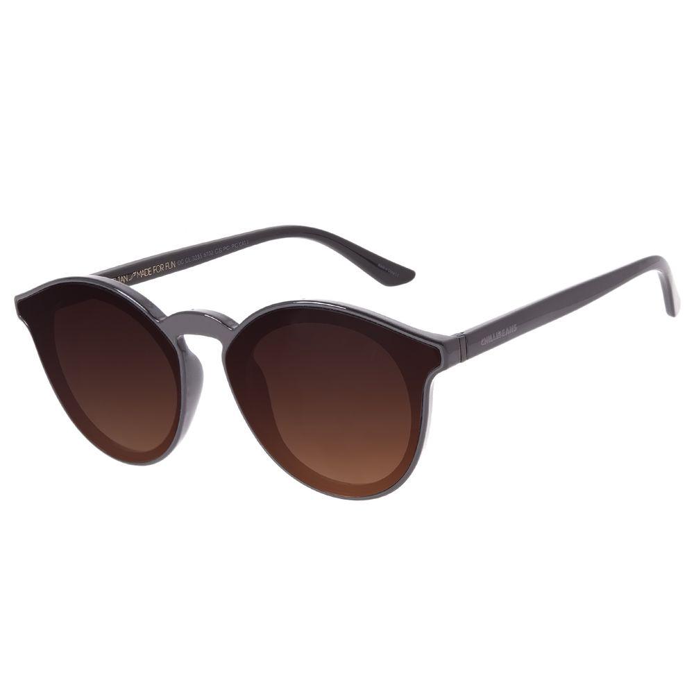 Óculos de Sol Unissex Chilli Beans Redondo Marrom OC.CL.3235-5702
