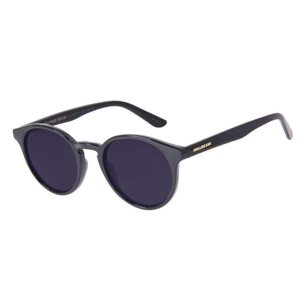 Óculos de Sol Unissex Chilli Beans Casual Redondo Preto OC.CL.3240-0101