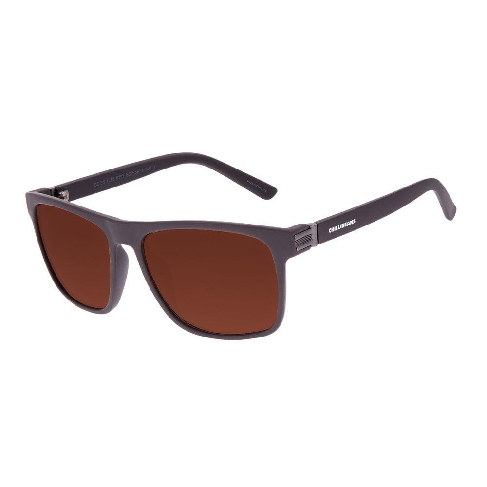 Óculos de Sol Masculino Chilli Beans New Sport Polarizado Marrom OC.ES.1258-0202