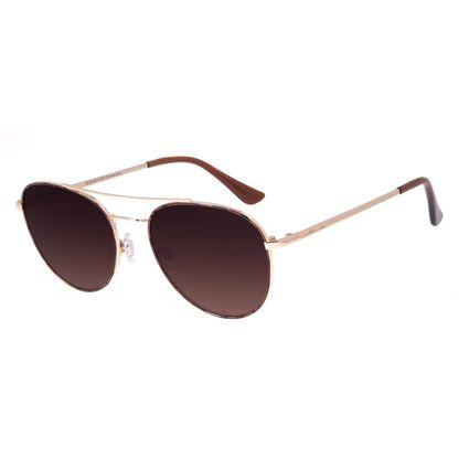 Óculos de Sol Feminino Chilli Beans Aviador Degradê Marrom OC.MT.2977-5721