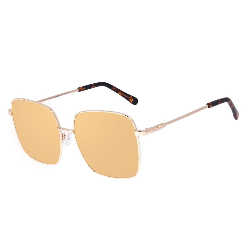 Óculos de Sol Feminino Chilli Beans Quadrado Dourado OC.MT.3005-5721
