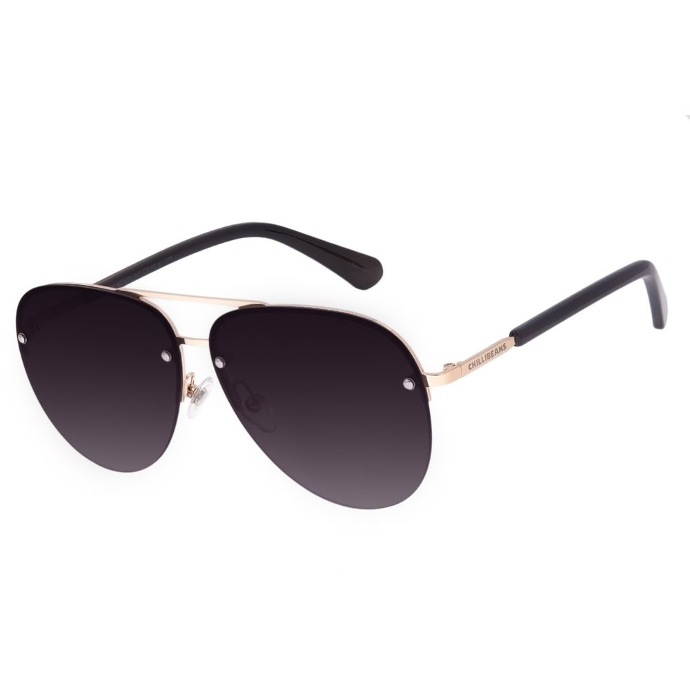 Óculos de Sol Unissex Chilli Beans Aviador Degradê OC.MT.3073-2021