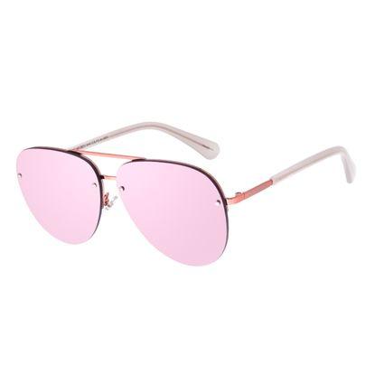 Óculos de Sol Unissex Chilli Beans Aviador Rosé OC.MT.3073-9595