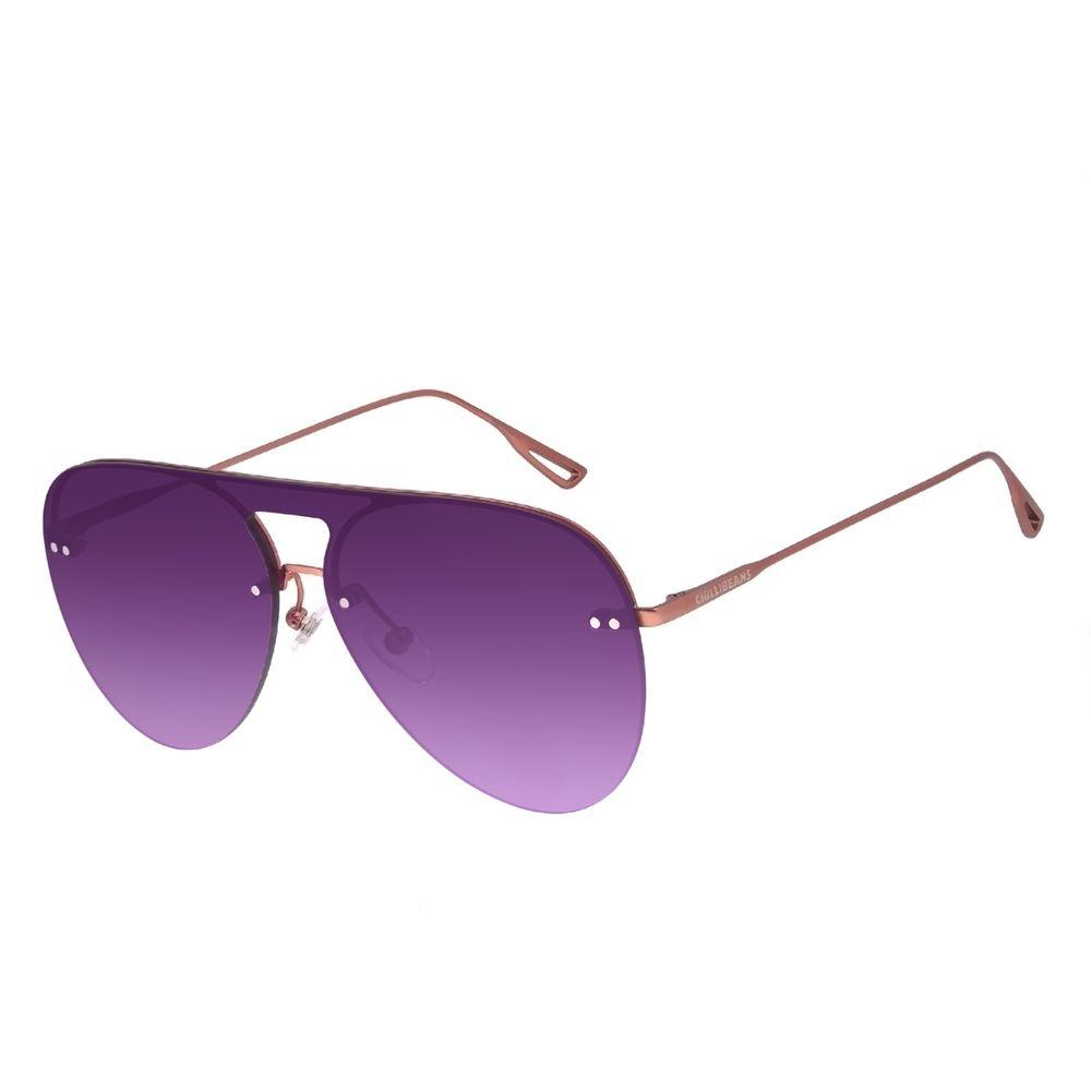 Óculos de Sol Unissex Chilli Beans Aviador Rosé OC.MT.3074-2095