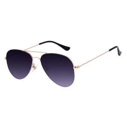 Óculos de Sol Unissex Chilli Beans Aviador Dourado OC.MT.3075-2021