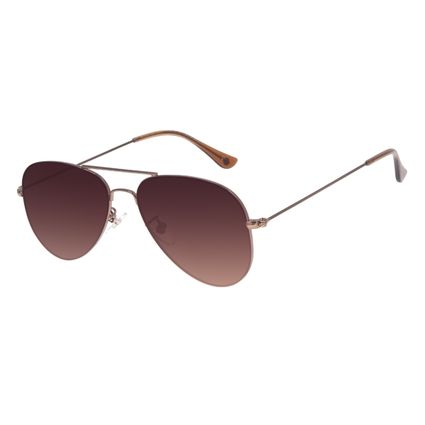 Óculos de Sol Unissex Chilli Beans Aviador Marrom OC.MT.3075-5702