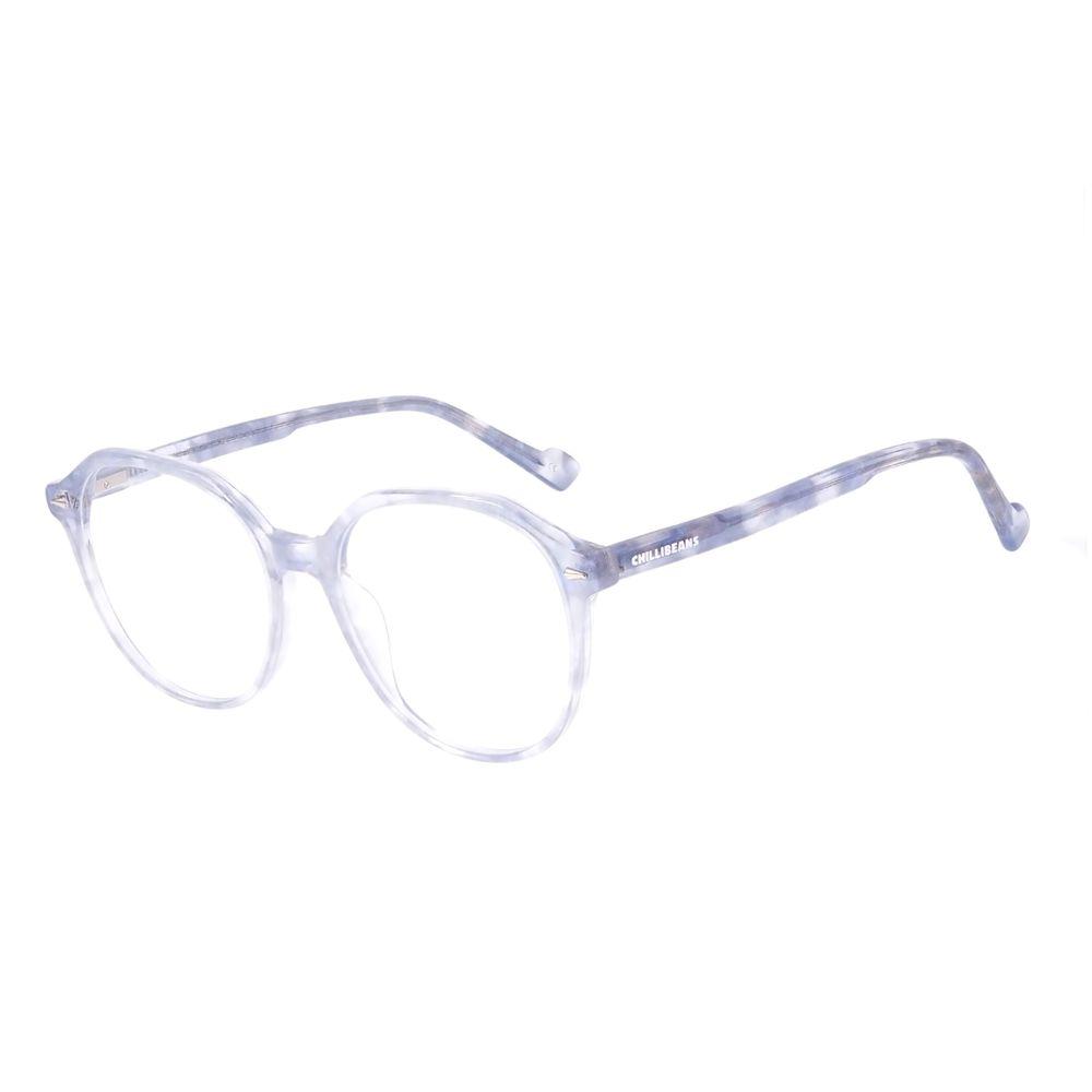 Armação Para Óculos de Grau Feminino Chilli Beans Cristal Brilho Cinza LV.AC.0707-0406