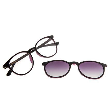 Armação Para Óculos de Grau Feminino Chilli Beans Multi Polarizado Redondo Roxo LV.MU.0259-2014