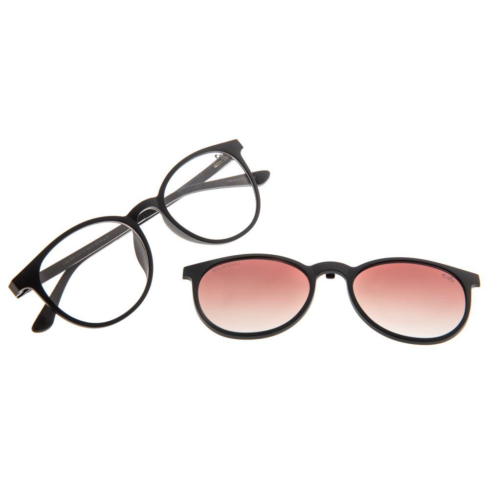 Armação Para Óculos de Grau Feminino Chilli Beans Multi Polarizado Redondo Preto LV.MU.0259-5701