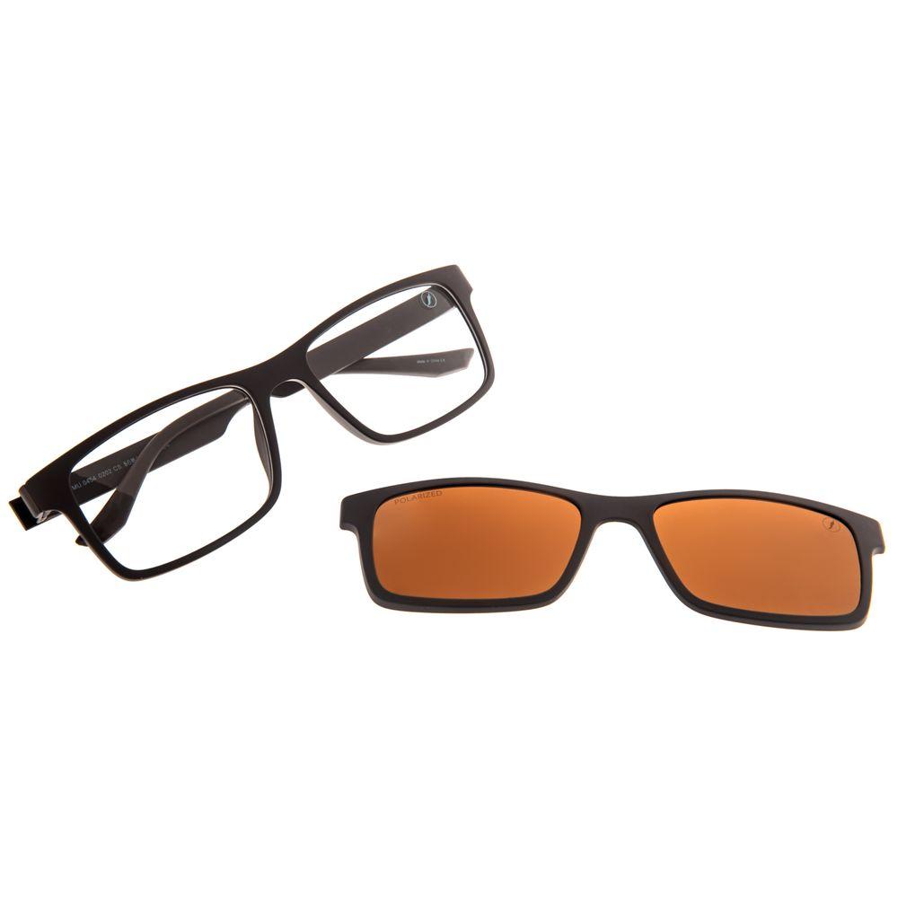 Armação Para Óculos de Grau Masculino Chilli Beans Bossa Nova Polarizado Marrom LV.MU.0454-0202