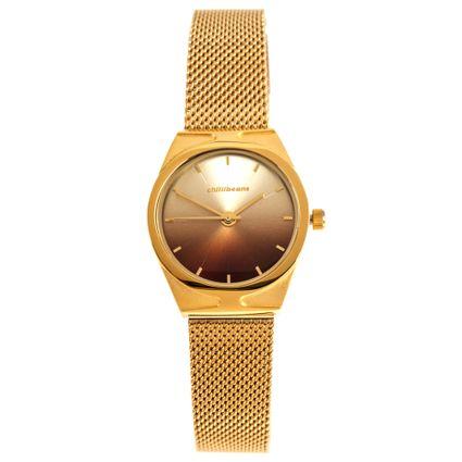 Relógio Analógico Feminino Chilli Beans Gradient Metal Dourado RE.MT.1069-0221