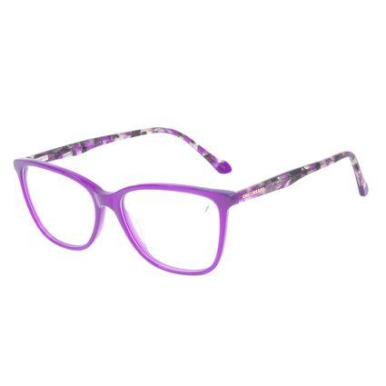 Armação Para Óculos de Grau Feminino Chilli Beans Quadrado Roxo Tartaruga LV.AC.0705-1406