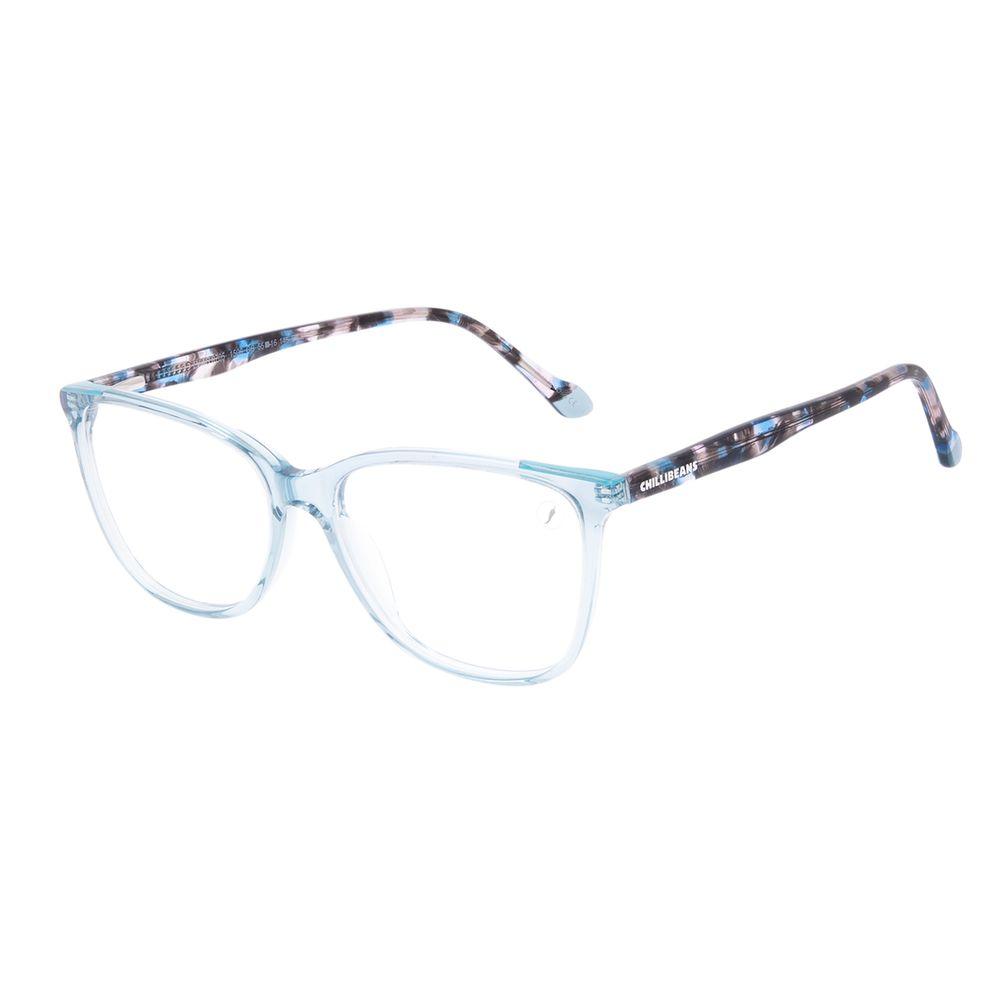 Armação Para Óculos de Grau Feminino Chilli Beans Quadrado Verde Tartaruga LV.AC.0705-1506