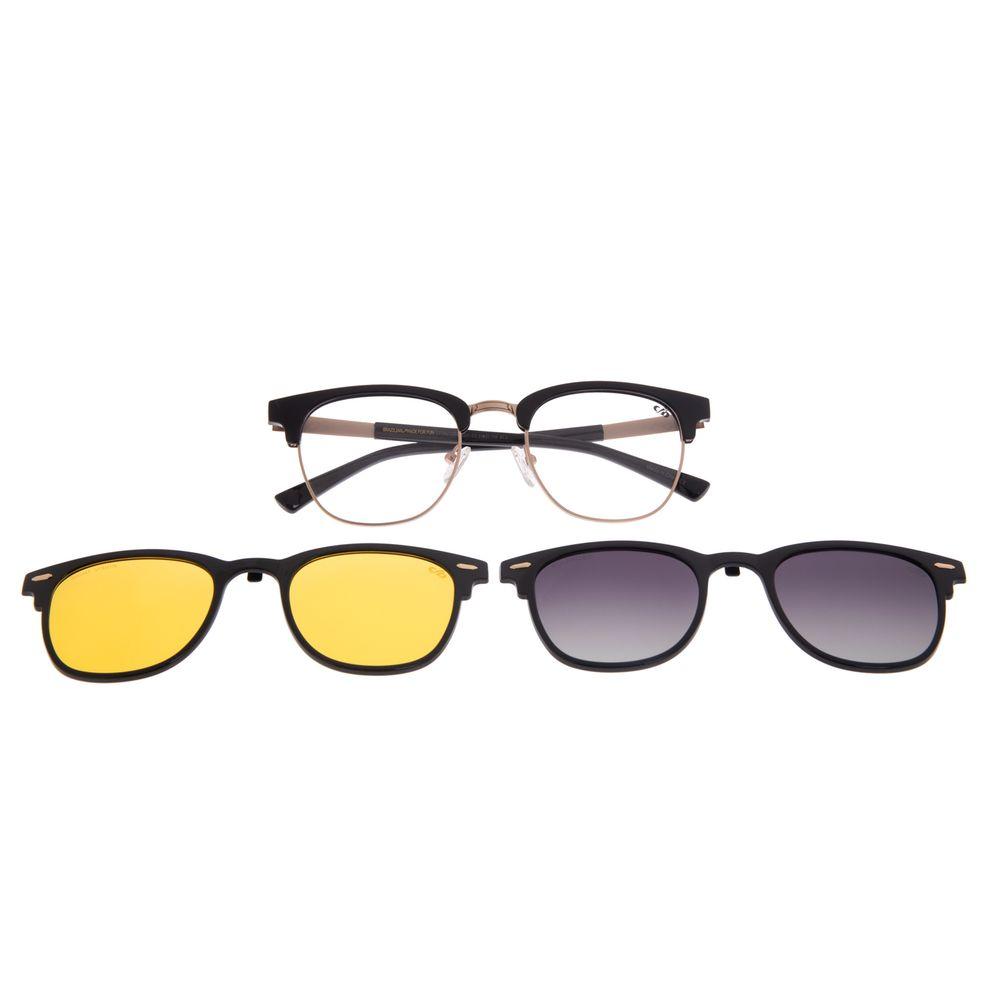 Armação Para Óculos De Grau Unissex Chilli Beans Jazz Night Vision Degradê Preto LV.MU.0399-2001