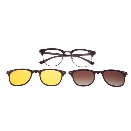 Armação Para Óculos De Grau Unissex Chilli Beans Jazz Night Vision Degradê Marrom LV.MU.0399-5702