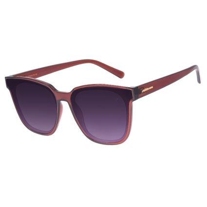 Óculos de Sol Feminino Chilli Beans Quadrado Degradê Vinho OC.CL.3021-2017