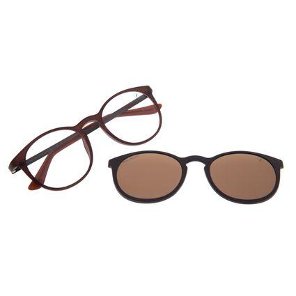 Armação Para Óculos de Grau Masculino Chilli Beans Multi Polarizado Marrom LV.MU.0453-0202