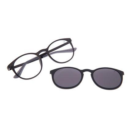 Armação Para Óculos de Grau Masculino Chilli Beans Multi Polarizado Cinza LV.MU.0453-0504