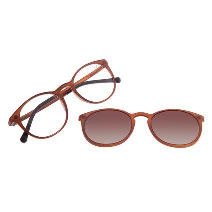 Armação Para Óculos de Grau Feminino Chilli Beans Multi Polarizado Marrom LV.MU.0220-5702