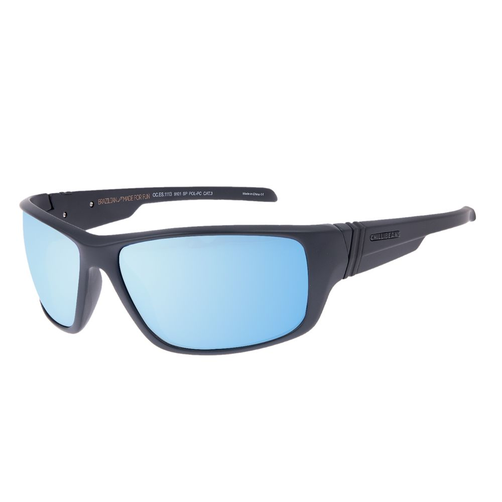 Óculos de Sol Masculino Chilli Beans Esportivo Azul Espelhado Polarizado OC.ES.1113-9101