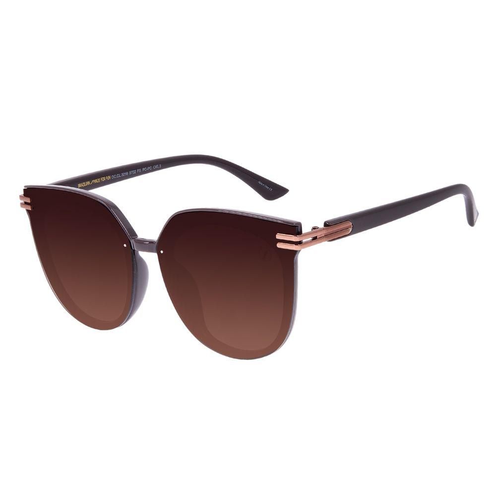 Óculos de Sol Feminino Chilli Beans Maxi Redondo Degradê Marrom OC.CL.3216-5702