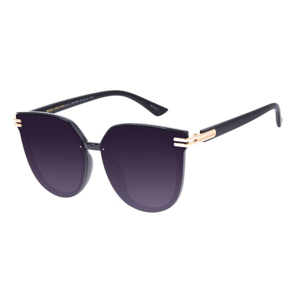 Óculos de Sol Feminino Chilli Beans Maxi Redondo PretoOC.CL.3216-2001