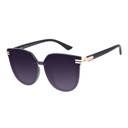 Óculos de Sol Feminino Chilli Beans Maxi Redondo Preto OC.CL.3216-2001