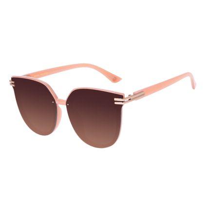 Óculos de Sol Feminino Chilli Beans Maxi Redondo Bege OC.CL.3216-5723