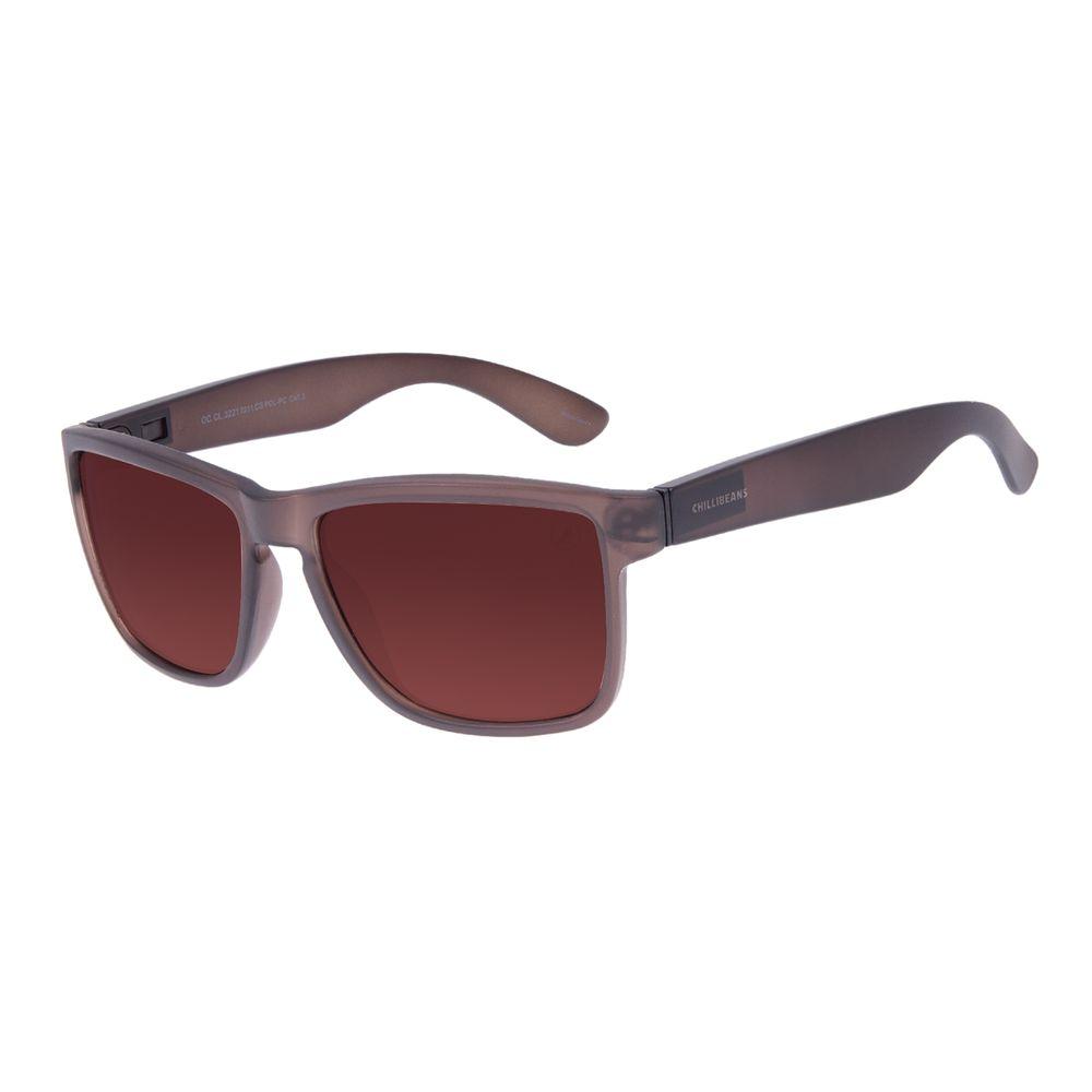 Óculos de Sol Masculino Chilli Beans Bossa Nova 2 Em 1 Marrom Polarizado OC.CL.3221-0201