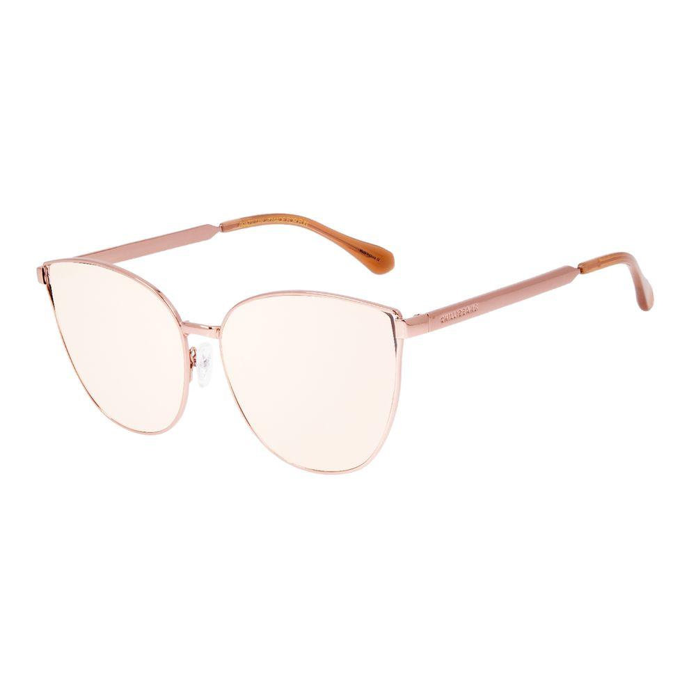 Óculos de Sol Feminino Chilli Beans Cat Metal Fosco Rosé    OC.MT.3061-9502