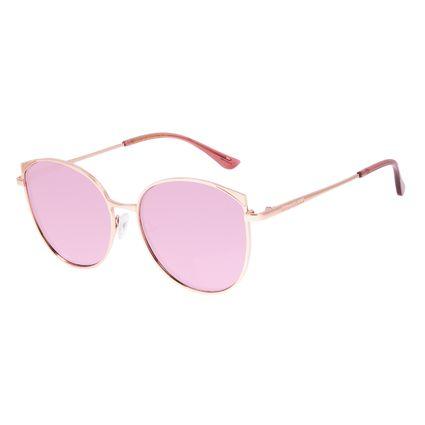 Óculos de Sol Feminino Chilli Beans Redondo Rosé Banhado a Ouro OC.MT.3062-9595