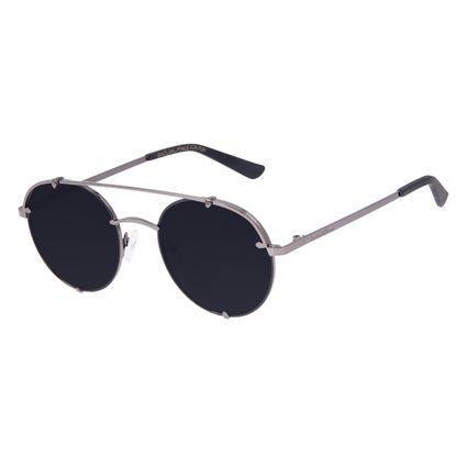 Óculos de Sol Unissex Chilli Beans Redondo Ônix OC.MT.3064-0122