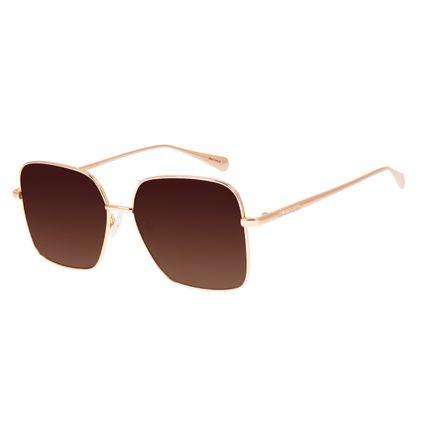 Óculos de Sol Feminino Chilli Beans Quadrado Dourado OC.MT.3067-5721